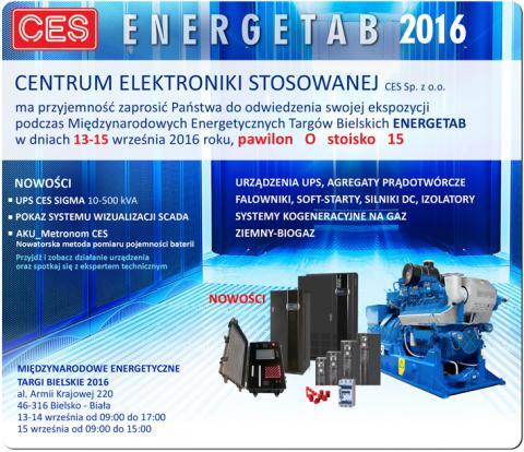 Ekspozycja CES  z zakresu soft-startów na Energetab_zaproszenie